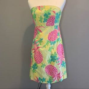 Vintage Lilly Pulitzer Sabrina dress in palm green